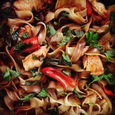 Spicy Drunken Noodles (Pad Kee Mao) - way better than takeout Thai