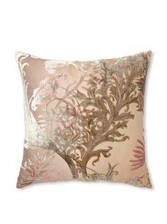 "Kevin O'Brien Studio Vines Velvet Pillow, Iris, 16"" x 16"""