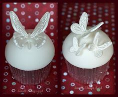 Butterfly Wedding Cupcake