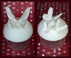 Butterfly Wedding Cupcake