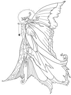 Fairy Coloring Pages For Adults   Enchanted Designs Fairy ...