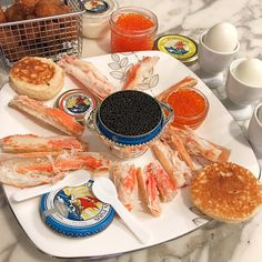 Cheers to Saturdays  Tater tots, crab legs, blinis, and caviar. @petrossiannyc @petrossian_fr favorite #petrossian #petrossiancaviar #troutroe #salmonroe #ikura #snowcrab #crablegs #blinis #tatertots #caviar Follow on Instagram: JenCooksKorean JenCooksKorean.com