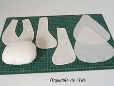 TODOS OS CRÉDITOS SÃO DA PINGUINHO DE ARTE                          Estes moldes eu uso para quase todos os bonecos que faço.É muito  impo...