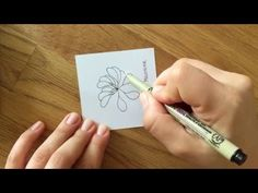 Zentangle® Pattern: Million Air - YouTube