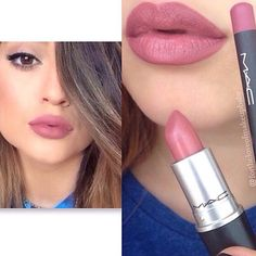 """""""MAC lipstick """"brave"""" by MAC and """"edge to edge"""" liner"""