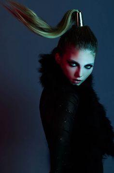 Darkly Neon Photoshoots - Ebony Iris by Jeremy Choh Sports Femininely Futuristic Fashion (GALLERY)