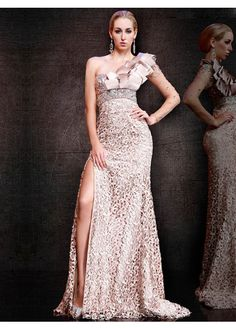 Hot Sale Lace One-Shoulder Cheap Prom Dresses 2015 PD20150149