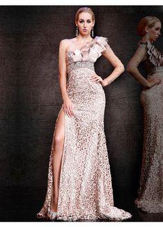 Hot Sale Lace One-Shoulder Cheap Prom Dresses 2015 PD20150149
