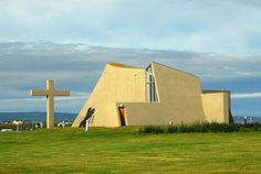 Modern church in Blönduós   Copyright Brian J. McMorrow 1999-2010  Iceland