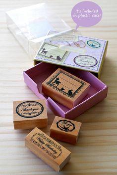 NEW Label stamp set animal type by karaku on Etsy, ¥1500