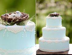 cute bird nest topper (as long as they aren't sparrows! yikes!)