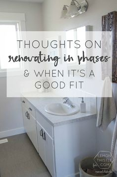 DIY Bathroom Remodel On A Budget (and Thoughts On Renovating In Phases)  (Remodelaholic)