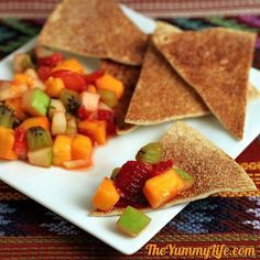 Mango Fruit Salad Salsa  - Serve with Sugar & Spice Tortilla Chips for an appetizer, brunch, or dessert