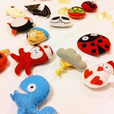 Oby's Handmade - Decorazioni in feltro con ventosa fatte a mano, animaletti in feltro, Halloween