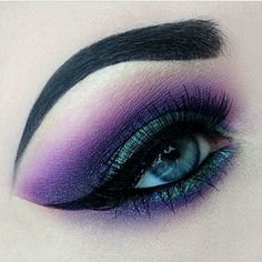 Purple and green dramatic eyeshadow