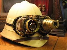 Pith Goggles  love a good pith helmet