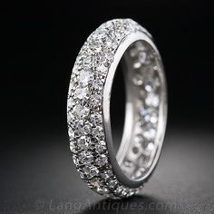 Pave Diamond Eternity Band - 110-1-4030 - Lang Antiques