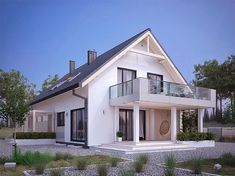 Projekt domu MT Amarylis 4 paliwo stałe CE - DOM - gotowy koszt budowy Self Build Houses, Terrace Design, House Extensions, Pool Houses, Home Fashion, Bungalow, My House, Building A House, House Plans