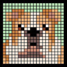 Ravelry: Corner to Corner Dog Blanket pattern by Piper Hinds Pixel Pattern, Pattern Art, Hama Beads Patterns, Beading Patterns, Cross Stitch Designs, Cross Stitch Patterns, Unique Dog Breeds, Lego Craft, Cross Stitch Bookmarks