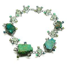 Joanna Gollberg, Slab Necklace, 2010 #green