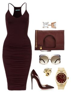 """Untitled #488"" by fashionkill21 ❤ liked on Polyvore featuring Christian Louboutin, Tom Ford, Allurez, Rolex and Cartier"