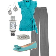 Classy, figure flattering and again, great pop of color. Practical outfit for teaching!
