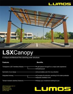 Best Looking Solar Panels For Awning & Carport Applications | Lumos    http://www.lumossolar.com/