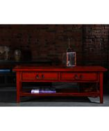 qingart - too much Chinese stuff? - Wenzhou Coffee Table Red - Chinese Furniture Coffee Table with Drawers [] - £480.00 : Qing Art - Chinese Furniture, Soft Furnishings, Lighting, Contemporary Oriental Interiors