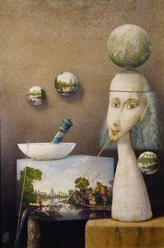 Zdenek Janda with Biography Surreal Art, Make Me Smile, Surrealism, Creative, Artist, Artwork, Painting, Drinks, Kunst