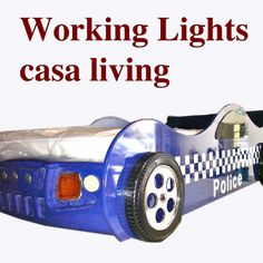 toddler police car bed   Details about NEW KIDS BOYS CHILDS TODDLER BLUE POLICE CAR BED ONLY ...