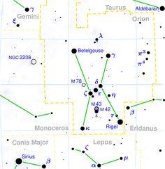 Orion constellation map - Сазвежђе — Википедија, слободна енциклопедија
