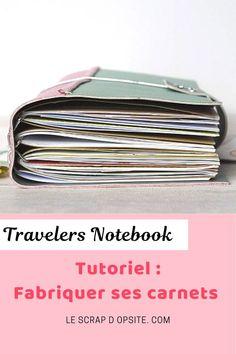 Toute la méthode pour fabriquer ses propres carnets de Traveler's Notebook à la sauce Scrapbooking. DIY facile et rapide avec photos explicatives et modéèles pour s'inspirer. Travelers Notebook, Scrapbooking Diy, Container, Inspirer, Sauce, Photos, Pictures