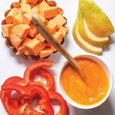Sweet Potato + Red Pepper + Pear Puree