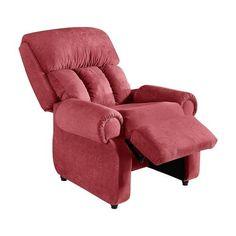 Poltrona Reclinável Star Suede Amassado Vermelho Tijolo American Confort