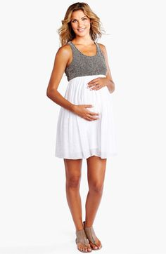 Maternal America Maternity Racerback Dress available at #Nordstrom