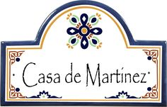 spanish style ceramic house signs - Google Search