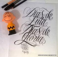 Dias de Luta. Dias de Glória (Days of struggle. Glory days). Charlie Brown mané  Lettering que em processo que estou criando para a próxima tattoo de um Brother . Lettering by Cícero Martins @cmstattoo #lettering #letteringtattoo #letter #letteringco #letteringinsoul #letteringchallenge #letteringcartel #consafos #consafostattoo #calligraphy #caligrafiatattoo #caligrafia #calligraphytattoo #typography #typographytattoo #tipografiatattoo #letters #letteringart #caligrafiamaldita