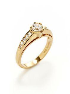 Round & Square Cut Diamond Ring by Piranesi at Gilt