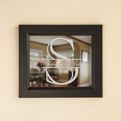 Monogrammed Etched Mirror by EverythingEtchedAZ on Etsy