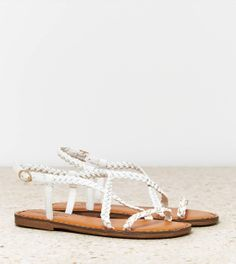 American Eagle Outfitters  AEO Chain Braided Sandals//