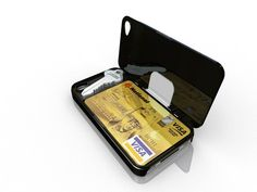 iLid case for iPhone with compartment for cards, cash and even a spare key!