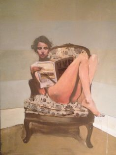Michael Carson, The Chair, oil on board, 40 x 30""
