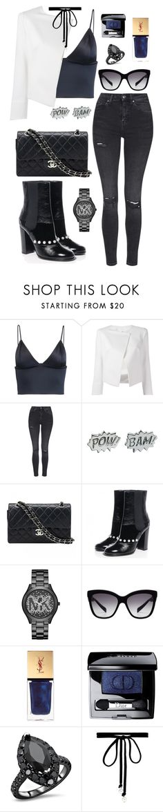 """""""Untitled #634"""" by rockinstyles ❤ liked on Polyvore featuring T By Alexander Wang, Plein Sud Jeanius, Topshop, Edge Only, Chanel, Michael Kors, Dolce&Gabbana, Yves Saint Laurent, Christian Dior and Joomi Lim"""