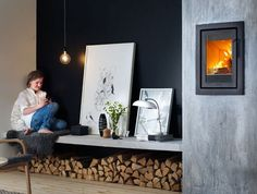 Contura i4 Modern 4 Insert wood burning stove