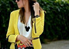 Pure Color Slim Blazer with Zipper Details [FFBI0198] - PersunMall.com