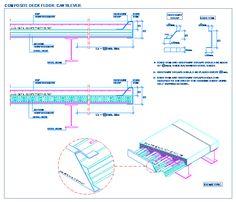 Composite deck floor. Cantilever.