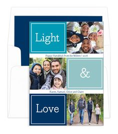 Light and Love Holiday Photo Cards