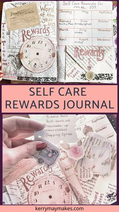 Rewards - My Self Care word of the year for Hard work does indeed reap rewards, I had a great year last year and wanted to incorporate working hard and rewarding myself into both my journaling and my Word of the Year. Journal Layout, Journal Prompts, Junk Journal, Journal Ideas, Working Hard, Hard Work, Glue Book, Journal Aesthetic, Art Journal Techniques
