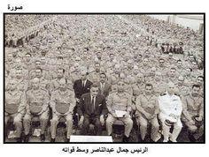 الزعيم جمال عبد الناصر وسط جنود الجيش المصرى