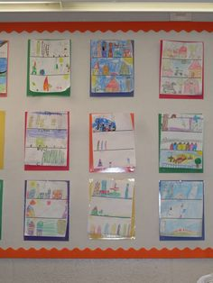 Community unit- students divide paper into thirds and draw a picture for each type of community. Picture only